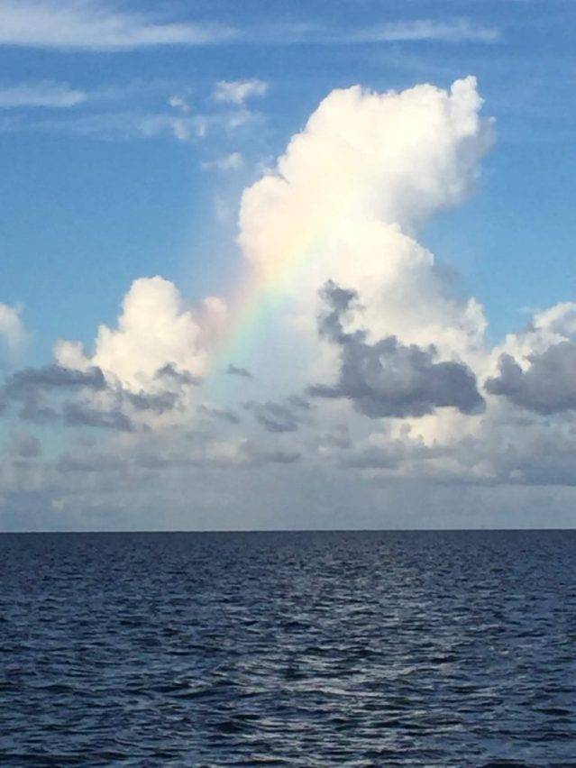 A rainbow cloud over the Pamlico Sound, Ocracoke, N.C. Photo: C. Leinbach