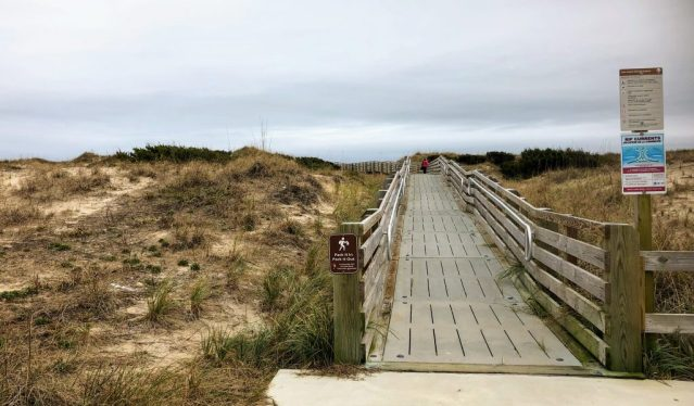 The ramp to the Ocracoke Day Use Beach, aka, the Lifeguard Beach. Photo: C. Leinbach