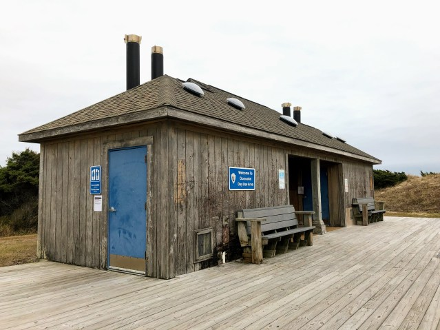 The restrooms at the Lifeguard Beach, Ocracoke, NC, are closed during the partial federal government shutdown. Photo: C. Leinbach