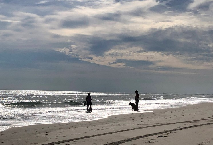 October afternoon at the beach on Ocracoke, NC. Photo: C. Leinbach