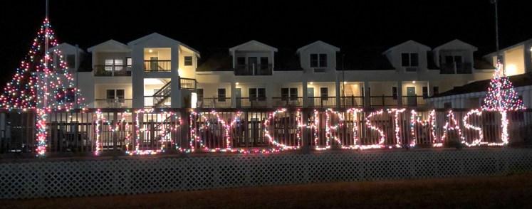 Ocracoke Island's Pony Island Motel Christmas light display. Photo: C. Leinbach