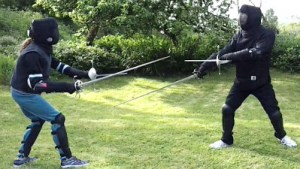 West Devon Swords rapier and dagger sparring