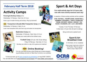 Feb half term programme and registration (PDF, 1.9MB)