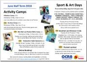 Summer half term holiday programme 2018