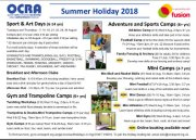 Summer holiday programme 2018