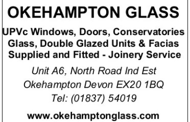 Okehampton Glass sponsorship ad