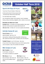 Image: October half term holiday programme