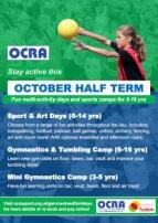 Image: OCRA October half term programme 2019