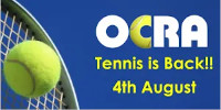 Tennis is Back 4th August 2020