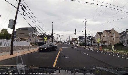 NJ 35 NB @ Harding- Wrong Way Driver!