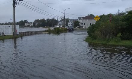 Toms River: Flooding by Gilford Park Yacht Club- Today.