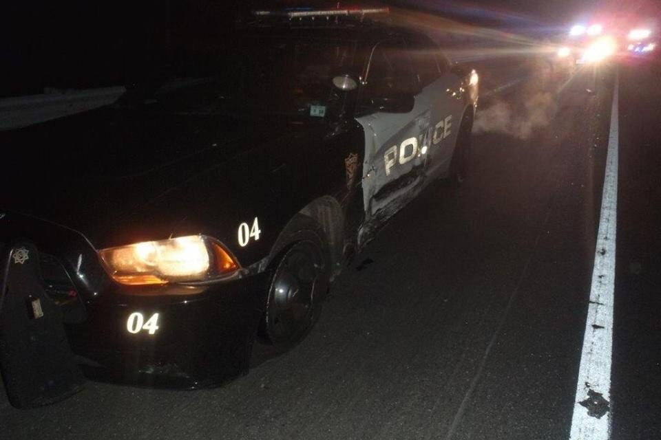 BRICK: Drunk Driver Strikes Patrol Car! Updated with Photos.