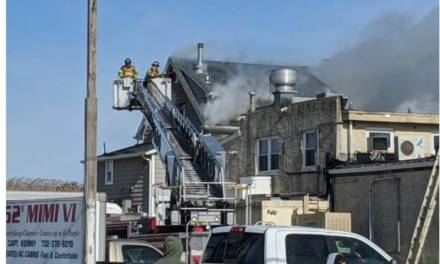 POINT PLEASANT BEACH:  Emergency Personnel Battle Fire