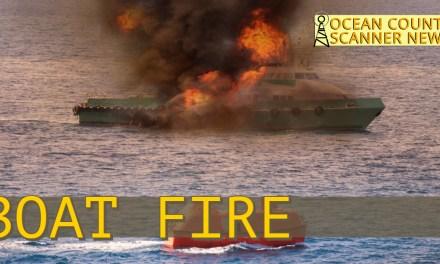 Little Egg Harbor: Boat Fire