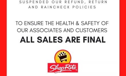 NO Returns @ Shop Rite