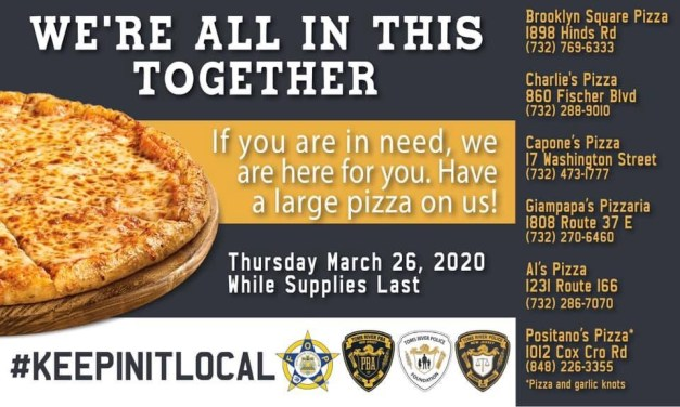 TOMS RIVER: TRPD Buys Community 300 Pizzas ❤️