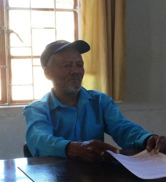 A Nama pastoralist interviewed in Kuboes