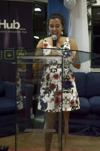 Josique Lorenzo speaking at the official OCSDNet Launch Event