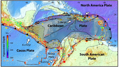 Figure 2 - Seismic and plate tectonic setting (Caribbean Region) [3]