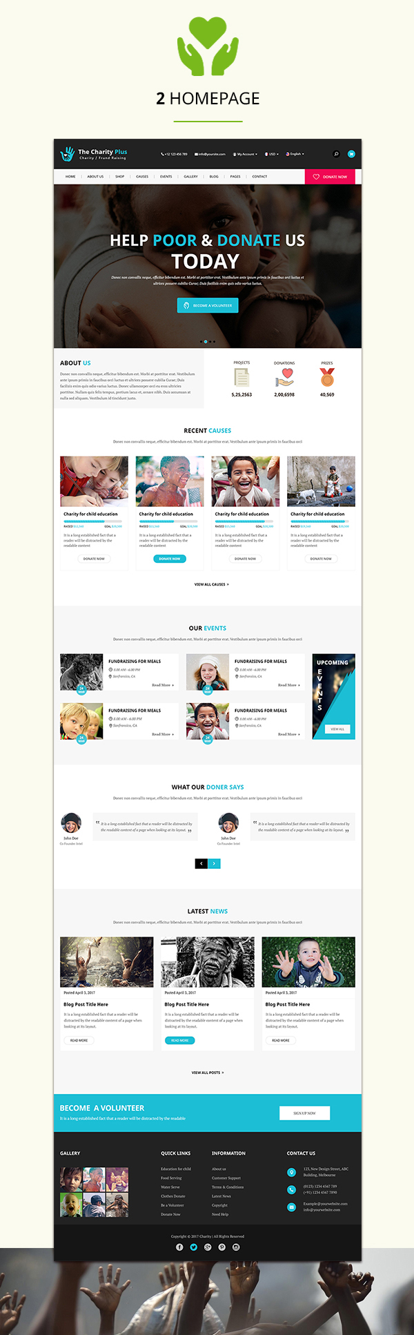 Charity - The Charity Plus HTML Template