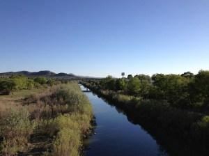 river runs through open sagebrush landscape