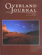 Overland Journal Volume 25 Number 3 Fall 2007