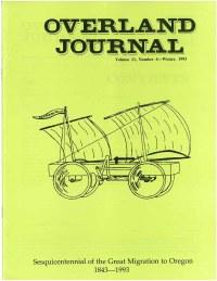 Overland Journal Volume 11 Number 4 Winter 1993