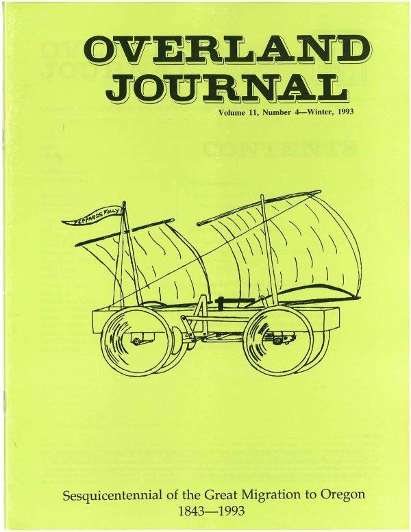 Overland Journal Volume 11 Number 4 Winter 1993