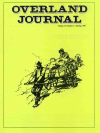 Overland Journal Volume 13 Number 1 Spring 1995