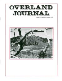 Overland Journal Volume 13 Number 2 Summer 1995