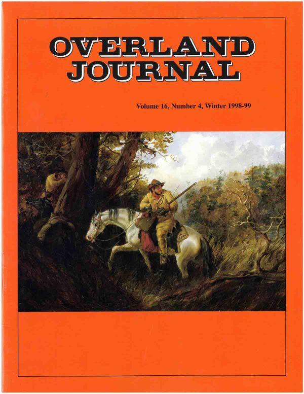 Overland Journal Volume 16 Number 4 Winter 1998-1999