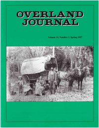 Overland Journal Volume 15 Number 1 Spring 1997