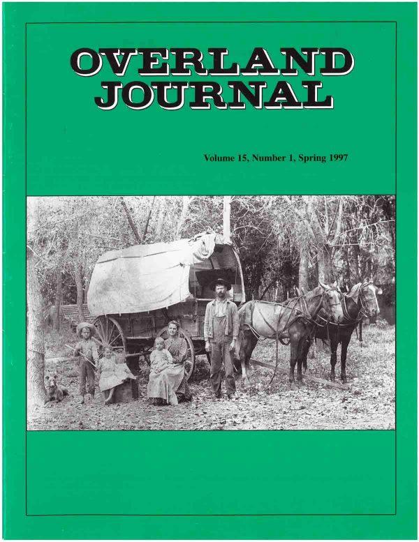 Overland Journal Volume 15 Number 1 Spring 1997