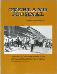 Overland Journal Volume 17 Number 3 Fall 1999