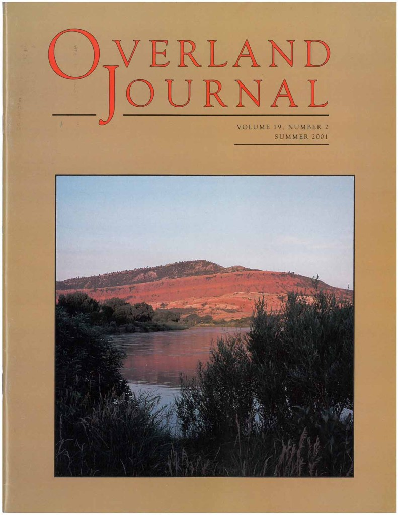 Overland Journal Volume 19 Number 2 Summer 2001