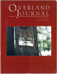Overland Journal Volume 22 Number 1 Spring 2004