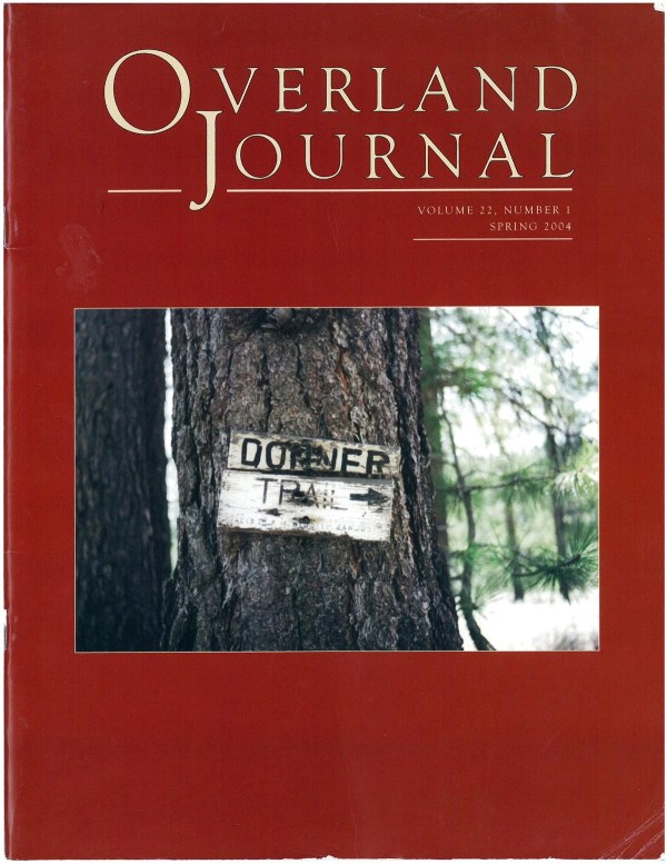Overland Journal Volume 22 Number 1 Spring 2004