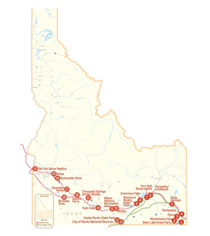 Idaho Pioneer Trail Map