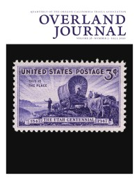 cover Overland Journal 38-3 Fall 2020
