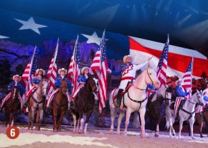 Patriotic riders with flags