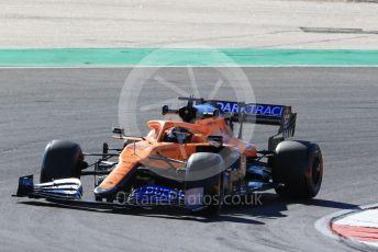 World © Octane Photographic Ltd. Formula 1 – F1 Portuguese GP, Practice 2. McLaren MCL35 – Carlos Sainz. Autodromo do Algarve, Portimao, Portugal. Friday 23rd October 2020.