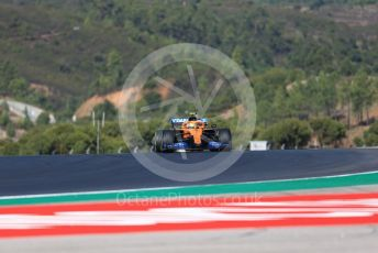 World © Octane Photographic Ltd. Formula 1 – F1 Portuguese GP, Practice 3. McLaren MCL35 – Lando Norris. Autodromo do Algarve, Portimao, Portugal. Saturday 24th October 2020.