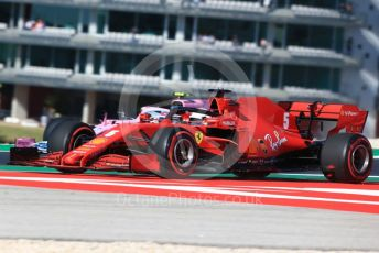 World © Octane Photographic Ltd. Formula 1 – F1 Portuguese GP, Practice 3. Scuderia Ferrari SF1000 – Sebastian Vettel and BWT Racing Point F1 Team RP20 – Lance Stroll. Autodromo do Algarve, Portimao, Portugal. Saturday 24th October 2020.
