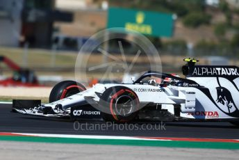 World © Octane Photographic Ltd. Formula 1 – F1 Portuguese GP, Practice 3. Scuderia AlphaTauri Honda AT01 – Pierre Gasly. Autodromo do Algarve, Portimao, Portugal. Saturday 24th October 2020.