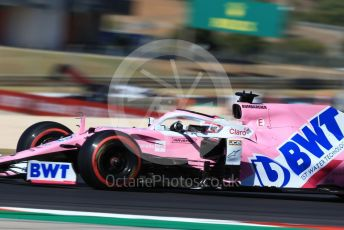 World © Octane Photographic Ltd. Formula 1 – F1 Portuguese GP, Practice 3. BWT Racing Point F1 Team RP20 - Sergio Perez. Autodromo do Algarve, Portimao, Portugal. Saturday 24th October 2020.