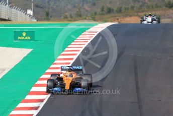 World © Octane Photographic Ltd. Formula 1 – F1 Portuguese GP, Qualifying. McLaren MCL35 – Carlos Sainz and Scuderia AlphaTauri Honda AT01 – Pierre Gasly. Autodromo do Algarve, Portimao, Portugal. Saturday 24th October 2020.