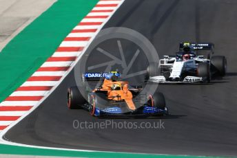 World © Octane Photographic Ltd. Formula 1 – F1 Portuguese GP, Qualifying. McLaren MCL35 – Lando Norris and Scuderia AlphaTauri Honda AT01 – Pierre Gasly. Autodromo do Algarve, Portimao, Portugal. Saturday 24th October 2020.