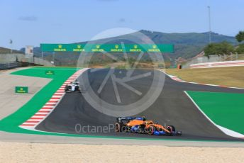 World © Octane Photographic Ltd. Formula 1 – F1 Portuguese GP, Qualifying. McLaren MCL35 – Lando Norris and Williams Racing FW43 – Nicholas Latifi. Autodromo do Algarve, Portimao, Portugal. Saturday 24th October 2020.
