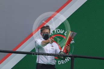 "World © Octane Photographic Ltd. Formula 1 – F1 Portuguese GP, Podium. Mercedes AMG Petronas F1 – Peter ""Bono"" Bonnington, Lewis Hamilton's race engineer. Autodromo do Algarve, Portimao, Portugal. Sunday 25th October 2020."