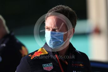 World © Octane Photographic Ltd. Formula 1 – F1 Portuguese GP. Christian Horner - Team Principal of Red Bull Racing. Autodromo do Algarve, Portimao, Portugal. Friday 23rd October 2020.